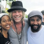 L-R: Donisha Prendergast, Big Kenny, Kymani Marley