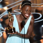 "Lupita Oyong accepting her Oscar Award for Best Supporting Actress for her role in ""12 Years A Slave"""