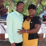 Keisha Rushton and fiance'