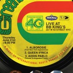 GREENSLEEVES RECORDS TO CELEBRATE 40th ANNIVERSARY IN NEW YORK CITY, JUNE 21!